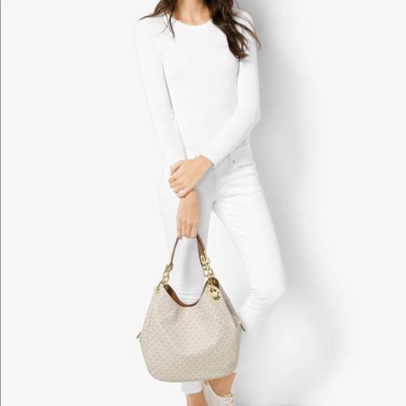55d55746b1f0 Michael Kors Bags | Signature Fulton Large Shoulder Bag | Poshmark
